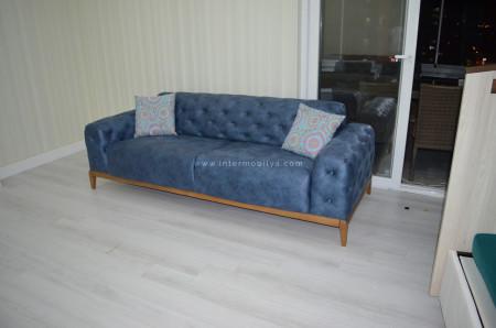 Yıldırım ailesi 2 kanepesi yatak olabilen Mavi Chester'ı tercih etti (1)