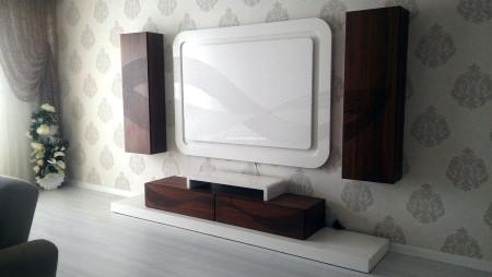 Aksoy ailesinin ekru ceviz tv ünitesi seçimi