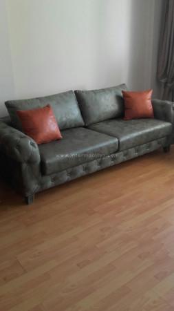 - Yılmaz ailesinin modern tv ünitesi ve yeşil nubuk chester koltuk takımı (1)