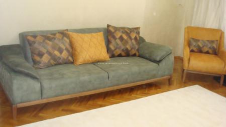 - Barut ailesinin sarı-yeşil yataklı oturma odası (1)
