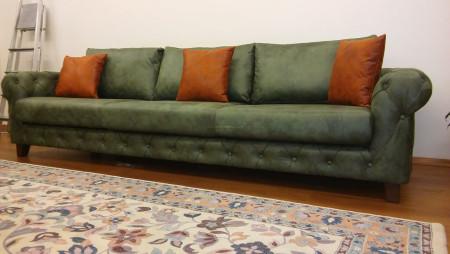 - Akınal ailesinin yeşil tonlarda nubuk kapitoneli oturma odası (1)