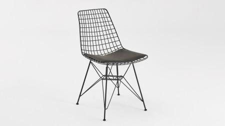 Yıldız Siyah Metal Sandalye