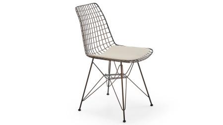 Çamlıca - Yıldız Bakır Oksit Kaplamalı Metal Sandalye