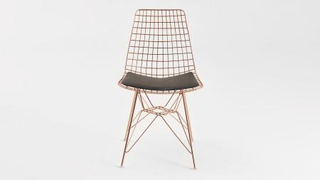 Yıldız Bakır Kaplamalı Metal Sandalye (1)