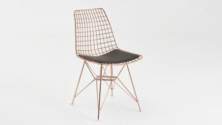 Yıldız Bakır Kaplamalı Metal Sandalye