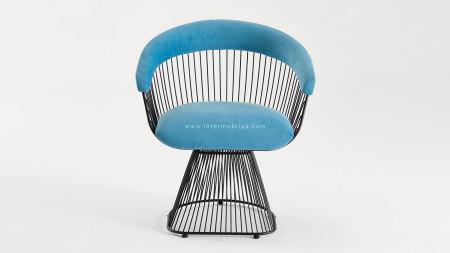 Kupa Siyah Fırın Boyalı Metal Sandalye (1)