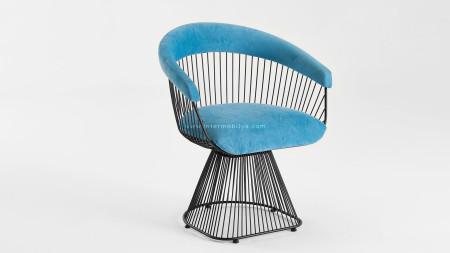 Kupa Siyah Fırın Boyalı Metal Sandalye
