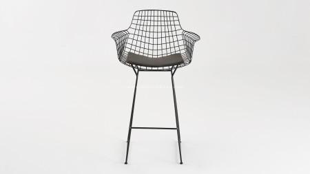 Zira Siyah Metal Bar Sandalyesi (1)