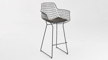 Çamlıca - Zira Siyah Metal Bar Sandalyesi