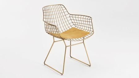 Zira U Ayaklı Sarı Oksit Metal Sandalye