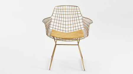 Zira U Ayaklı Sarı Oksit Metal Sandalye (1)