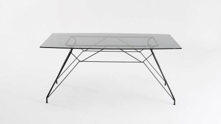 Bat Siyah Metal Ayaklı Yemek Masası (1)