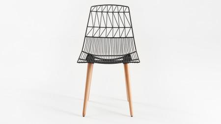 Bend Ahşap Ayaklı Metal Sandalye