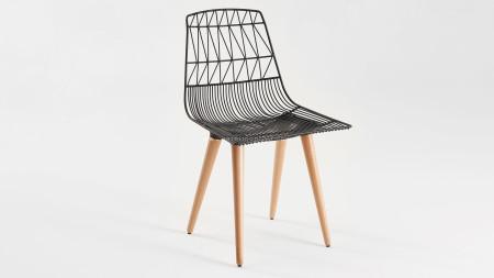 Bend Ahşap Ayaklı Metal Sandalye (1)