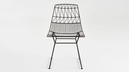 Bend Metal Siyah Sandalye (1)