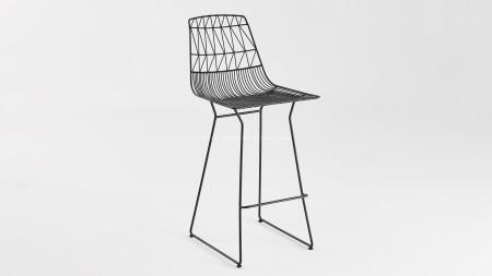 Bend Metal Siyah Bar Sandalyesi