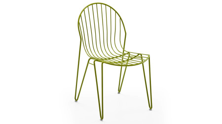 INT 19 Yeşil Renkli Metal Sandalye