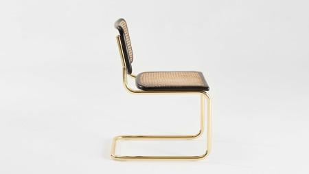 Haziranlı Altın Kaplamalı Kolsuz Metal Sandalye (1)