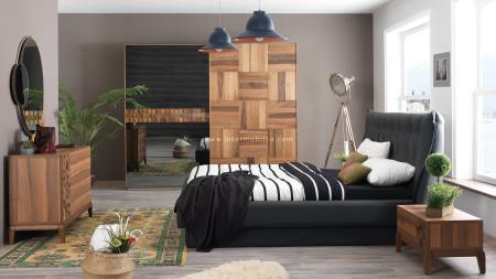 Berrak Ceviz Yatak Odası