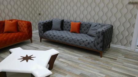 Sönmez ailesinin turuncu antrasit kombinli chester koltukları (1)