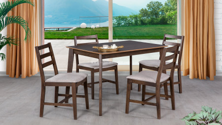 Middle Ceviz Masa Sandalye Takımı (1)