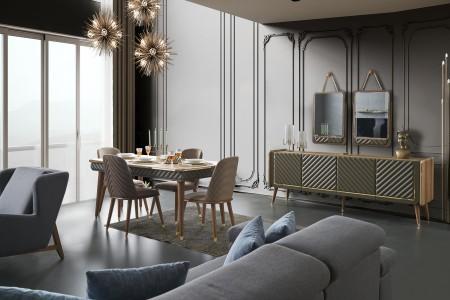 Bergamo Lüks Yemek Odası