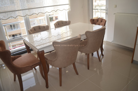 Kaplan ailesinin kullanışlı ve stil sahibi mutfak masası ve sandalyeleri (1)